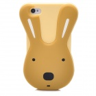 Protective Cute Rabbit Style Silicone Back Case for Iphone 4 / 4S - Light Yellow + Brown