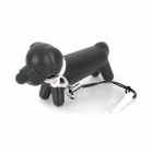 Creative Dog Style Capacitive Touch Screen Stylus Pen w/ Anti-Dust Plug for Iphone / Ipad - Black