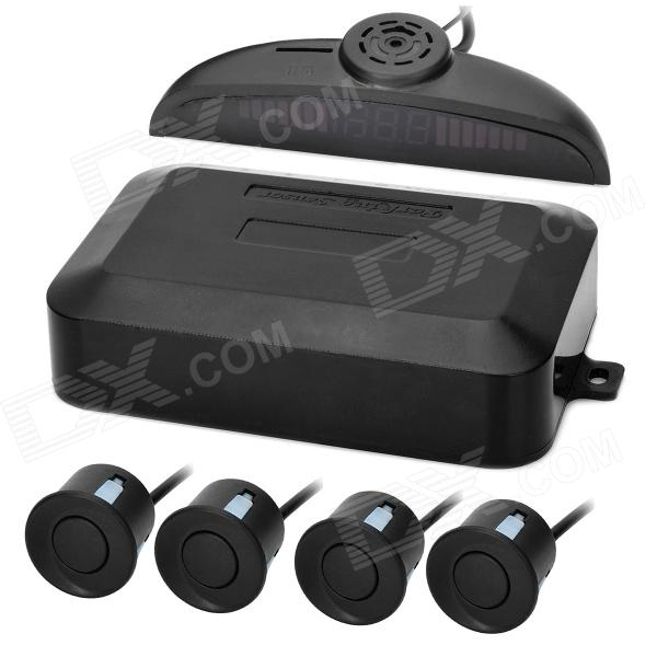 "4-Sensor 1"" LED Display Car Reversing Parking Sensor System w/ MP3 / TF - Black Palm Bay Цены на товары"
