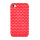 Square Style Protective Plastic Case for iPhone 4 / 4S - Red