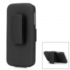 Stylish Protective Plastic Back Case w/ Belt Clip for Samsung Galaxy S4 i9500 - Black