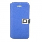 Protective PU Leather Case for Iphone 5 - Blue