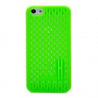 Protective Mesh Shape Back Case for Iphone 5 - Green