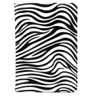 Zebra Style Protective PU Leather Case for Ipad MINI - Black + White