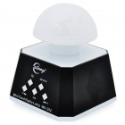 Multifunction 24-LED Mushroom Lamp 2-Channel Speaker w/ TF / FM / 3.5mm Jack / AUX - White + Black