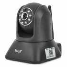 P2P Wireless Wi-Fi Surveillance Network IP Camera w/ 8-IR Night Vision LED / LAN - Black