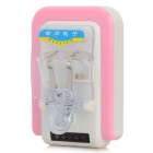 Mantanghong D4590 Universal AC Battery Charger w/ USB Port for Cell Phone - Pink + White (AC 220V)