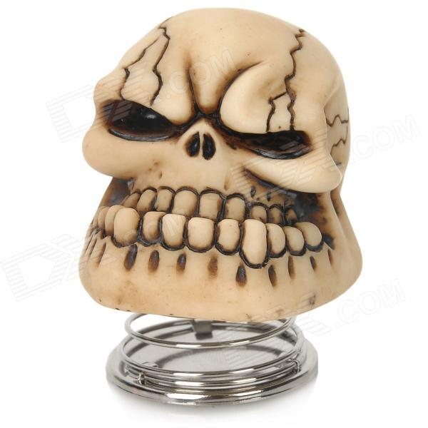 YB13032102 DIY Car Decoration Spring Skull - Beige + Brownish Black