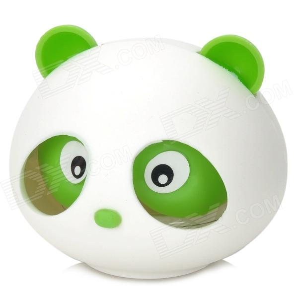 3L-77526 Cute Panda Style Jasmine Scent Car Air Refresher - White + Green