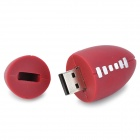 GLQ-16 Fun Futebol Shape USB 2.0 Flash Disk - Brown + White (8GB)