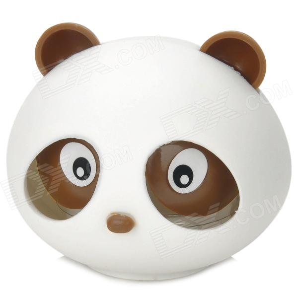Cute Panda Style Lavender Scent Car Air Refresher - Branco + Brown