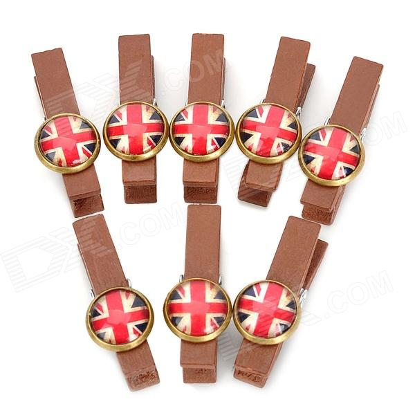 WL202 UK National Flag Pattern Wooden Clip Clamp (8 PCS) national insurance contributions bill