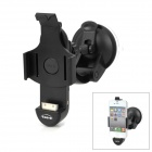 4-in-1 360 Degrees Rotation Audio Car Mount Charging Holder w/ Aux-Out for iPhone 4 / 4S - Black