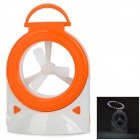 QQBH D5248A Multi-Function USB Fan + 24-LED White Light Table Lamp - White + Orange