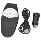 Car Bluetooth v3.0 Hands-Free Phone Supports Multi-Point Connection - White + Black