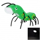 QZ03 Cute Insect Style Environmental 13-LED White Induction Light - Green + Black + Yellow