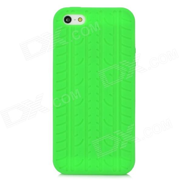 Tire Pattern Protective Silicone Case for Iphone 5 - Green