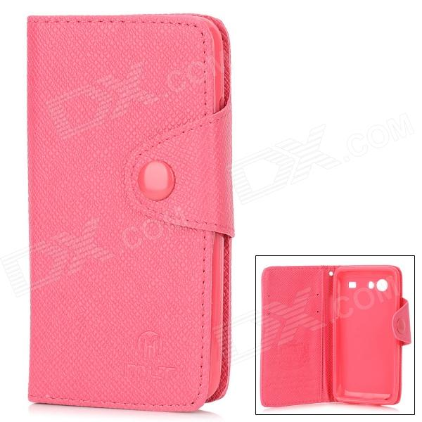 все цены на Protective PU Leather Flip-Open Case for Samsung i9070 - Deep Pink онлайн