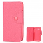 Protective PU Leather Flip-Open Case for Samsung i9070 - Deep Pink