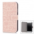 Cute Cartoon Style Protective PC + PU Leather Back Case for Samsung Galaxy S4 i9500 - Beige Red