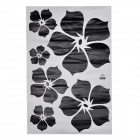 JiaMing JM7031 Elegant Flowers Pattern Decorative PVC Wall Paper Sticker - Black (60 x 90cm)