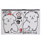 JiaMing JM7027 Dog Couple Pattern Decorative PVC Wall Paper Sticker - Black + Red (60 x 90cm)