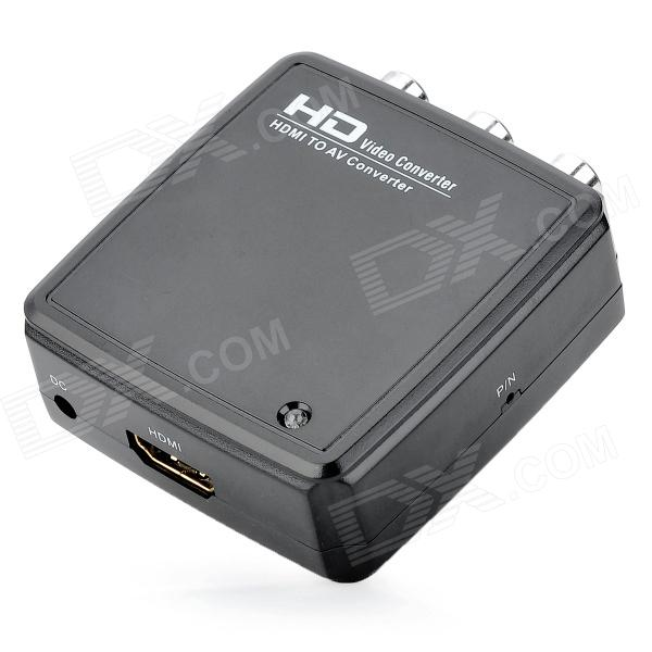 HD2R01 HDMI AV Audio Video Converter - noir + blanc