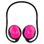 KP-11 Rechargeable MP3 Player Stereo Headphone w/ FM / TF / Mini USB - Black + Deep Pink