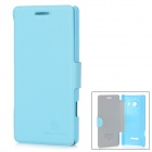 Nillkin Stylish Flip-Open Artificial Leather + PC Case for Huawei Ascend W1 - Blue