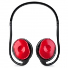KP-11 Rechargeable MP3 Player Stereo Headphone w/ FM / TF / Mini USB - Black + Red
