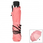HQS-G102186 UV Protection Changing into Flower Pattern in Rain Magical Umbrella - Pink + Black