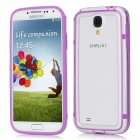 Protective Bumper Frame for Samsung i9500 Galaxy S4 - Purple + Transparent