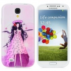 Purple Girl Pattern Protective TPU Case for Samsung Galaxy S4 i9500