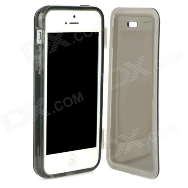 Simple Compact Protective TPU Case for Iphone 5 - BlackTPU Cases<br>Quantity 1 Piece Color Black Material TPU Compatible Models Iphone 5 Other Features All-round protection to your phone with preserved spaces for full access to controls buttons and camera. Packing List 1 x Case<br>