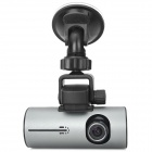 "X3000AV 1/4"" CMOS Dual-Camera 110' Wide Angle Car DVR w/ GPS / G-Sensor / Remote - Black + Grey"