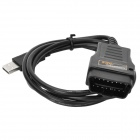 HDS Cable OBD2 Diagnostic Cable for Honda - Black