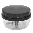 Portable Kitchen Vegetable Cutter - Black + Transparent