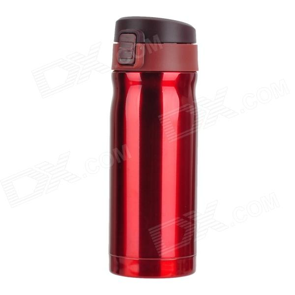 Fashion Stainless Steel Insulated Cup - Coffee + Brown + Wine Red (350ml)