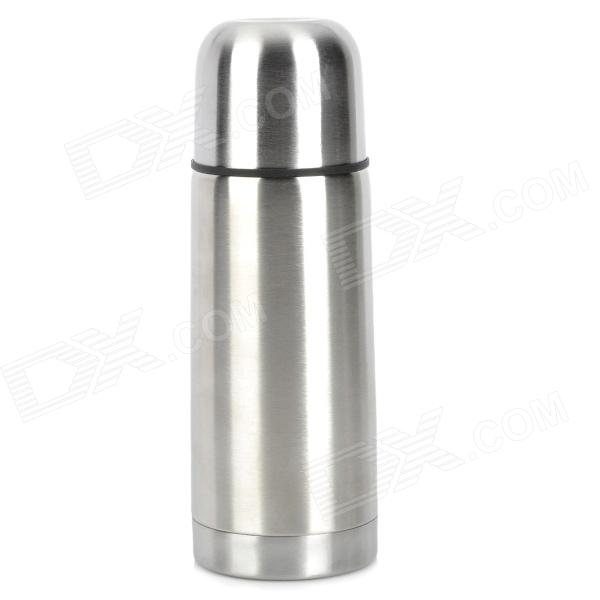 Stainless Steel Vacuum Bullet Insulation Cup - Silver + Black (350mL)