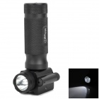 CREE XR-E Q5 200lm 2-Mode White Flashlight + 5mW 635~655nm Red Laser Pointer for 20mm Gun - Black