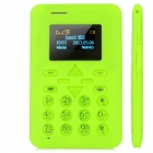 "AIEK V8 Super Slim GSM Card Phone w/ 1.1"" Screen, Quad-Band, Single-SIM and FM - Green"
