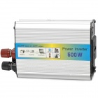 500W Car DC 24V to AC 220V Power Inverter w/ USB Power Port - Silver