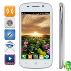 "S7 R830 Android 4.1 GSM Bar Phone w/ 4.0"" Capacitive Screen, Quad-Band and Wi-Fi - White + Silver"