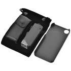 100 x lupp lins w / LED-belysning / Back Case för Iphone 5 - svart