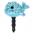 Dolphin Style Anti-Dust Plug for iPhone 3.5mm Audio Jack - Blue + Black