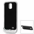 5V 3200mAh Portable External Battery w/ Protective Back Case + Stand for Samsung i9500 - Black