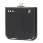 "M1900 External ""1900mAh"" Lightning 8-Pin Emergency Mobile Power Charger Battery for iPhone 5 - Black"