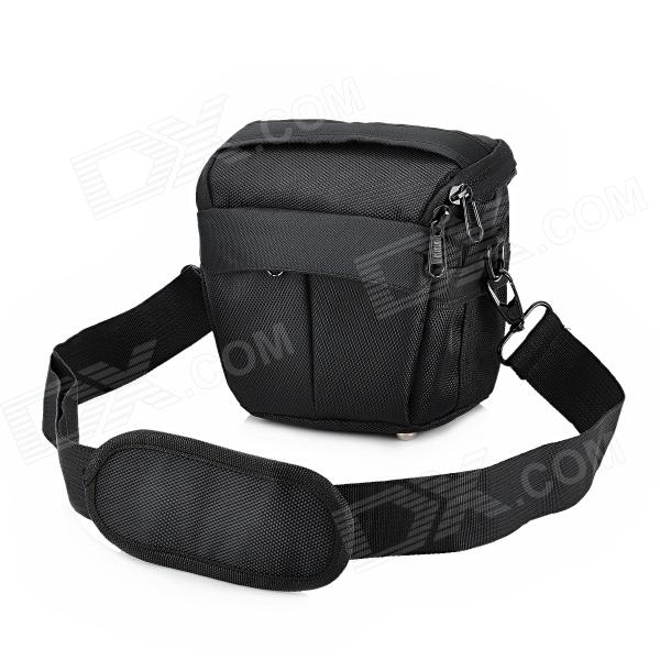 F22 Fashion Protective Nylon Shoulder Bag for ILDC / Camera - Black sisters point пальто sisters point модель 274682047