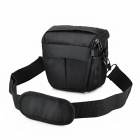 F22 Fashion Protective Nylon Shoulder Bag for ILDC / Camera - Black