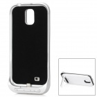 5V 3200mAh Portable External Battery w/ Protective Back Case + Stand for Samsung i9500 - White